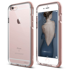 S6 Dualistic Aluminum Case for iPhone 6/6s - Transparent / Rose Gold