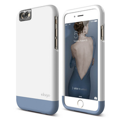 S6+ Glide Cam for iPhone 6s Plus - White / Royal Blue