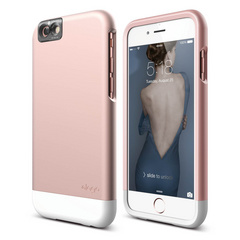 S6+ Glide Cam for iPhone 6s Plus - Rose Gold / White