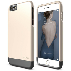 S6+ Glide Cam for iPhone 6s Plus - Champagne Gold / Metallic Dark Gray