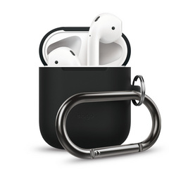 Airpods Silicone Hang Case - Black