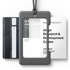 ID Card Holder - Dark gray with dark gray strap
