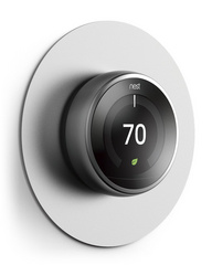 Alluminium Wall Plate Cover for Nest Learning Thermostat - Silver