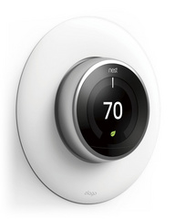 Classical Wall Plate Cover for Nest Learning Thermostat - White