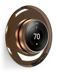 Classical Wall Plate Cover for Nest Learning Thermostat - Chrome Bronze