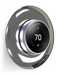 Classical Wall Plate Cover for Nest Learning Thermostat - Chrome