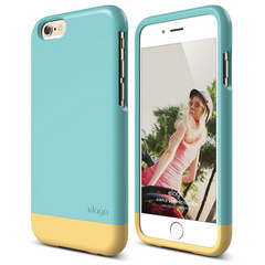 S6 Glide for iPhone 6 - Coral Blue / Creamy Yellow