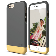 S6 Glide for iPhone 6 - Dark Gray / Creamy Yellow