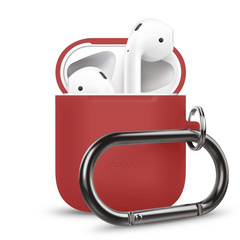 Airpods Silicone Hang Case - Red