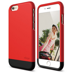 S6 Glide for iPhone 6 - Extreme Red / Matt Black