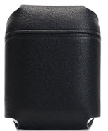 D6 Italian Minerva Box Leather Airpods Pouch - Black