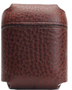 D6 Italian Minerva Box Leather Airpods Pouch - Brown