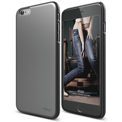 S6+ Slim Fit 2 Case for iPhone 6/6s Plus - Metallic Dark Grey
