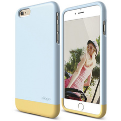 S6+ Glide for iPhone 6 Plus - Cotton Candy Blue / Creamy Yellow