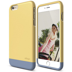 S6+ Glide for iPhone 6 Plus - Creamy Yellow / Royal Blue