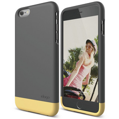 S6+ Glide for iPhone 6 Plus - Dark Gray / Creamy Yellow