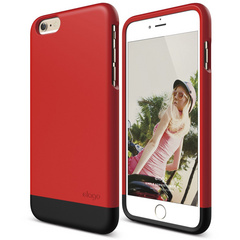 S6+ Glide for iPhone 6 Plus - Extreme Red / Matt Black