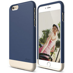 S6+ Glide for iPhone 6 Plus - Jean Indigo / Champagne Gold