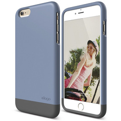 S6+ Glide for iPhone 6 Plus - Royal Blue / Dark Gray