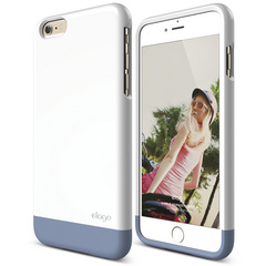 S6+ Glide for iPhone 6 Plus - White / Royal Blue