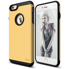 S6+ Duro Case for iPhone 6/6s Plus - Black / Creamy Yellow