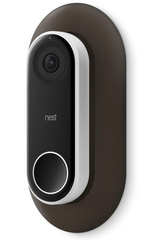 Wall Plate for Nest Hello Doorbell - Dark Brown