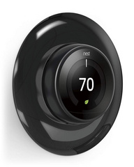 Classical Wall Plate Cover for Nest Learning Thermostat - Mirror Black
