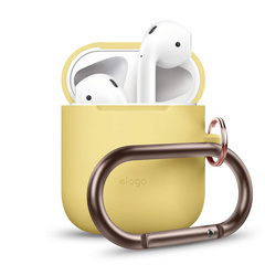 Airpods Silicone Hang Case - Yellow