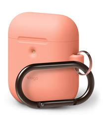 Airpods Silicone Hang Case - Peach