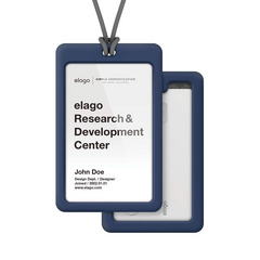 ID Card Holder - Jean indigo with dark gray strap