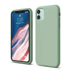 Silicone Case for iPhone 11 - Pastel Green