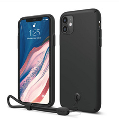 Slim Fit Strap Case for iPhone 11 - Black