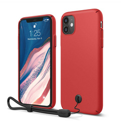Slim Fit Strap Case for iPhone 11 - Red