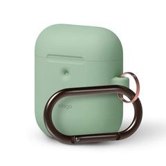 Airpods Silicone Hang Case - Pastel Green