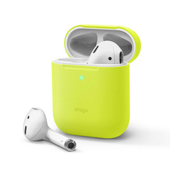 Airpods Skinny Silicone Case - Neon Yellow