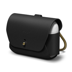 Airpods Pro Leather Case - Black