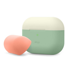 Airpods Pro Duo Silicone Case - Pastel Green/White-Peach