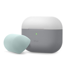 Airpods Pro Duo Silicone Case - Dark Gray Translucent/Mint/Gray