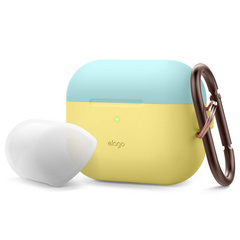 Airpods Pro Duo Hang Case - Creamy Yellow/Coral Blue-Nightglow Blue