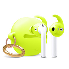 Airpods Earbuds Hooks with Carrying Pouch - Nightglow Yellow