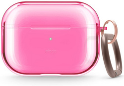 Airpods Pro Clear TPU Case - Neon Pink