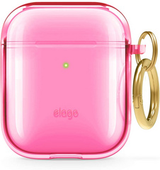 Airpods TPU Case - Clear Neon Pink