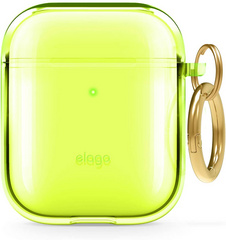 Airpods TPU Case - Clear Neon Yellow