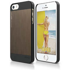 S5 Outfit Matrix Case for iPhone 5/5s/SE - Black / Chocolate