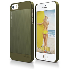 S5 Outfit Matrix Case for iPhone 5/5s/SE - Camo Green