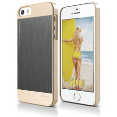 S5 Outfit Matrix Case for iPhone 5/5s/SE - Champagne Gold / Dark Gray