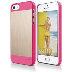 S5 Outfit Matrix Case for iPhone 5/5s/5SE - Hot Pink / Champagne Gold