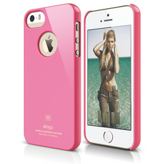 S5 Slim Fit Case for iPhone 5/5s/SE - Hot Pink