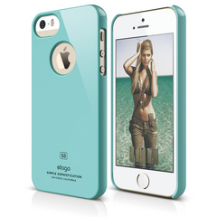S5 Slim Fit Case for iPhone 5/5s/SE - Coral Blue
