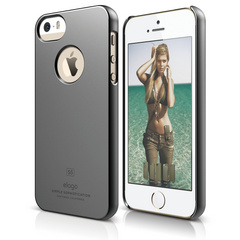 S5 Slim Fit Case for iPhone 5/5s/SE- Metallic Dark Gray